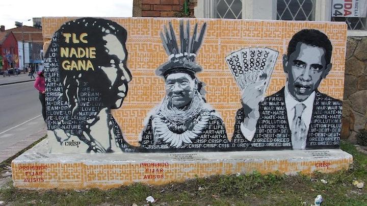 crisp street art bogota Speaking with Bogota Based Australian Artist CRISP in NYC