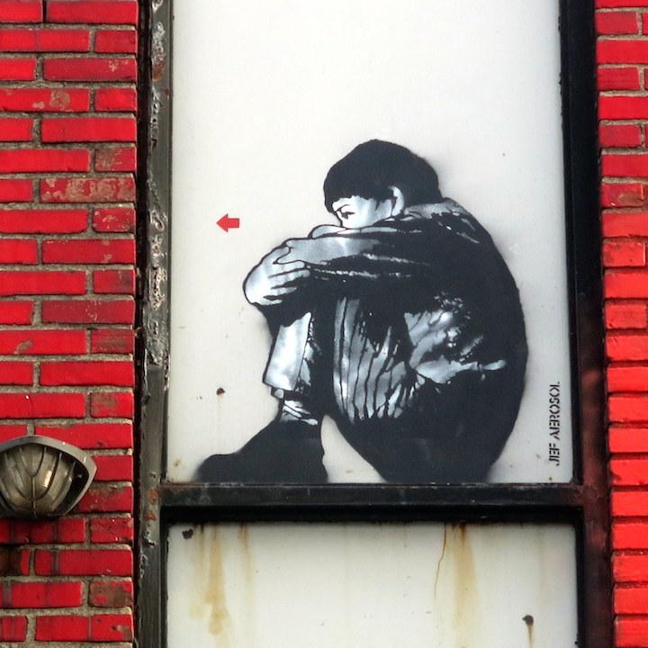jef aerosol street art nushwick collective nyc Kids on Walls — Part VI: Jerkface, Axel Void, Billy Mode & Chris Stain, Damien Mitchell, Enzo & Nio, Banksy, Jef Aerosol and Razo & Dead Rat