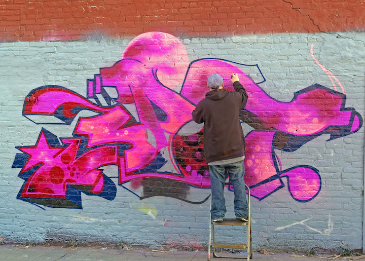 spot graffiti Bushwick NYC Bushwicks Stylish Graffiti Walls: Home, Owns, Rath, Spot, Yes1, Shiro, Gusto and Vers