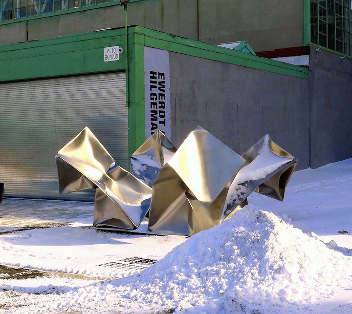 Ewerdt Hilgemann Ewerdt Hilgemanns Implosion Sculptures on Manhattans Park Avenue and at Jersey Citys Mana Contemporary