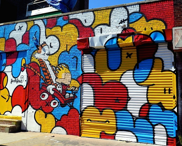 Jerkface street art NYC Comic Characters on NYC Walls: John Crash Matos, Ozmo, Jerkface, Mr OneTeas and See One