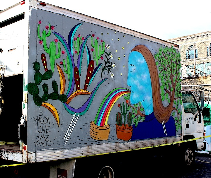 magda love truck jmz nyc NYC's Stylish Trucks & Vans – from the Whimsical to the Wild, Part XI: Wane, Cone, Magda Love, Crane, Rimx & Seel and Sienide
