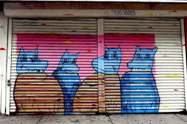 ramiro davaro street art shutter nyc NYC Shutters – Part VIII: Sweet Toof, Darkclouds, Ben Eine, Ramiro Davaro, Kashink, the Drif and Buff Monster