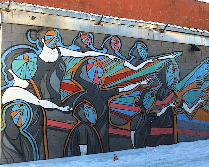 D.Usher street art mott Haven Bronx NYC Mott Havens Motley Medley of Street Art: Wanda Raimundi Ortiz, Seth Mathurin, Dek 2DX, Dennesa Usher and more
