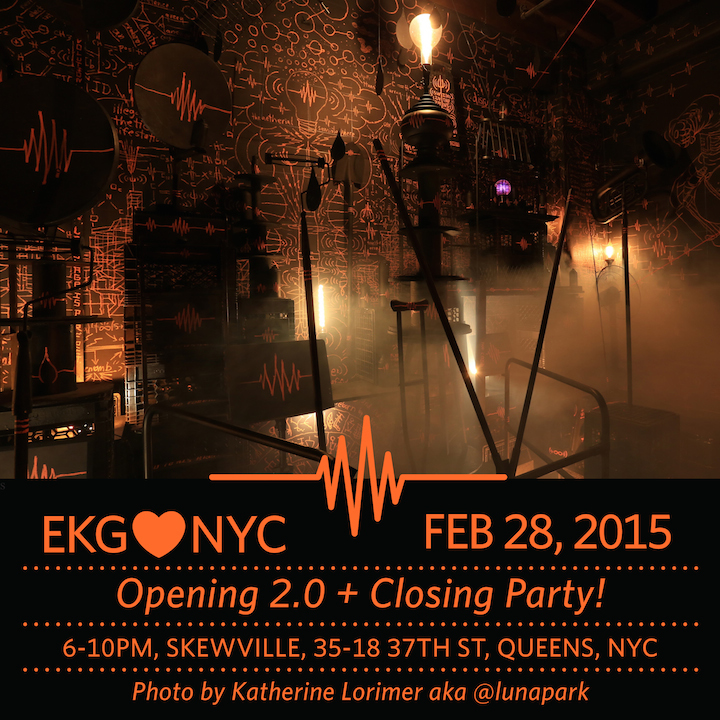 EKG closing party EKG♥NYC Closing Event Tonight at Skewville in Long Island City