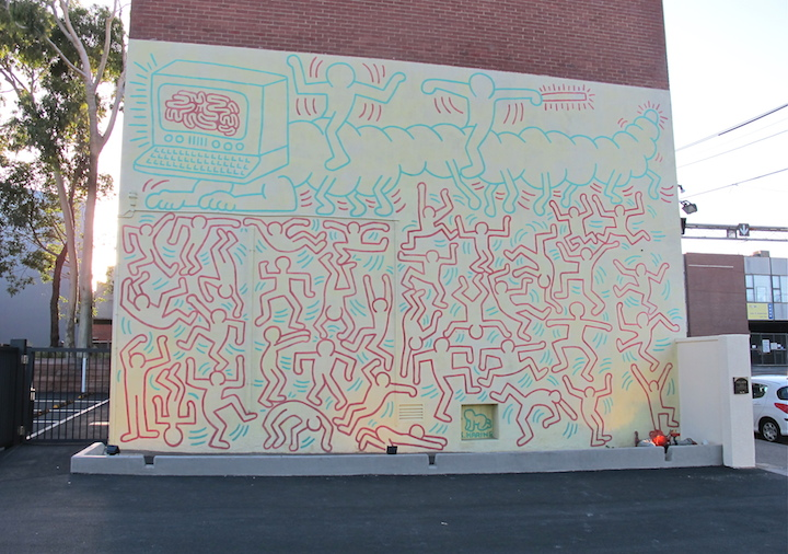 KEITH HARING mural 1984 Dean Sunshine Melbourne Melbourne based Photographer Dean Sunshine on Street Art and Graffiti, <em>Land of Sunshine</em>, NYC, His Newly Released Book and more