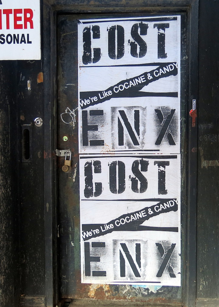 cost enx street art tribeca NYC's Expressive Doors, Part V: Beau Stanton, EKG, Kenny Scharf, Pyramid Oracle, Cost & Enx, Michael De Feo and Good & Shiddy