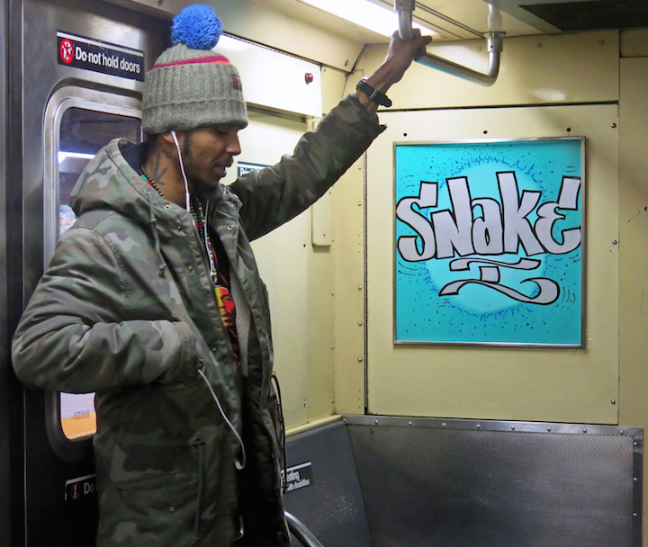 snake subway art From Yankee Stadium to Coney Island with TAKI 183, Kingbee, Snake 1, Praxis, Nic 707, Sketch, T Kid & Brian M Convery