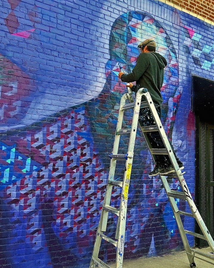 Chris Soria paints street art nyc <em>Brooklyn Is the Future</em> to Open This Evening at the Vazquez in Bushwick: N Carlos J, Chris Soria, Eelco, Marc Evan, Savior Elmundo, Ben Angotti, Rob Plater, LMNOPI and many more