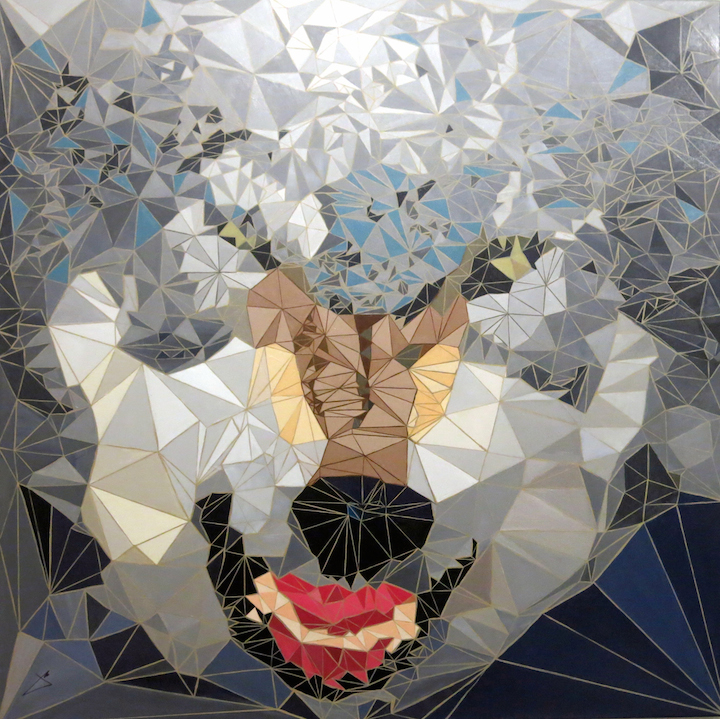 Jamie Martinez El Lobo oil on canvas  Jamie Martinezs Triangulism Art in <em>Hunt for Inspiration</em> Continues until April 23 at Chelseas Galerie Protégé