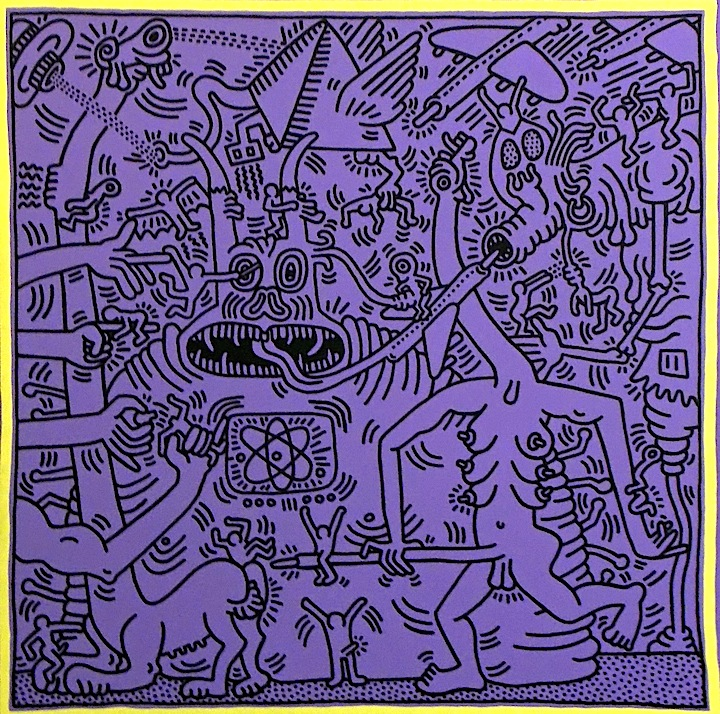 Keith Haring art <em>Keith Haring: Heaven and Hell</em> at Skarstedt in Chelsea through April 18
