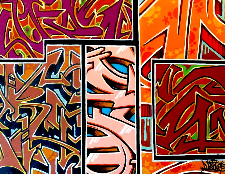 Meres graffiti art at lowbrow artique Meres One on <em>Reclaimed</em>: His Solo Exhibit at Low Brow Artique