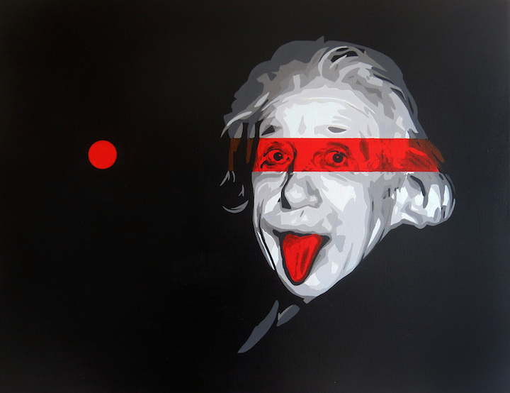 Pesu stencil art einstein PESU: From Fuji, Shizuoka to Manhattan's East Village