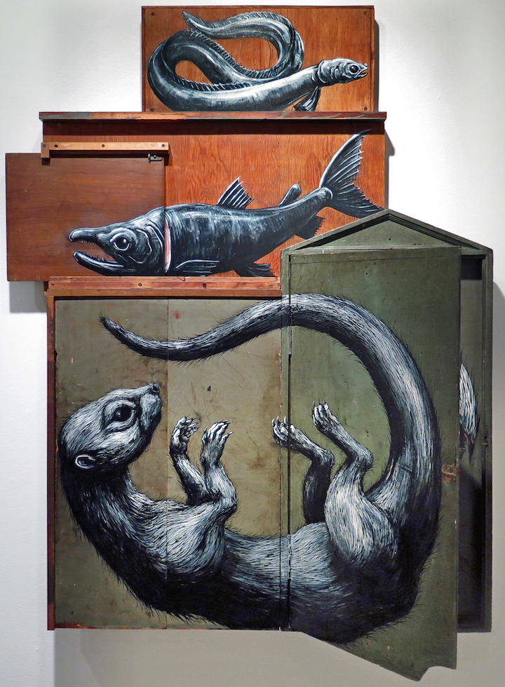 Roa Composition ll Jonathan Levine Gallery Belgian Artist Roa in Jersey City and at the Jonathan LeVine Gallery