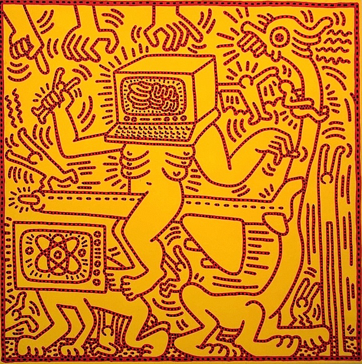 keith haring untitled artwork 1984 <em>Keith Haring: Heaven and Hell</em> at Skarstedt in Chelsea through April 18