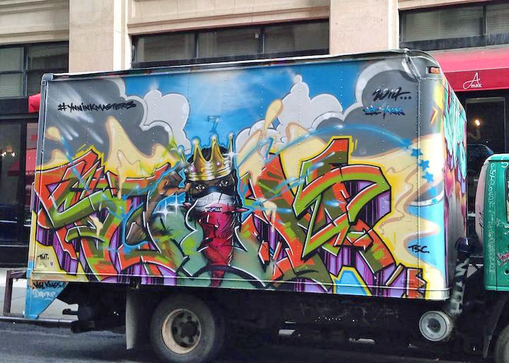 ynn graffiti truck nyc NYC's Stylish Trucks & Vans – from the Whimsical to the Wild, Part XII: Cern, CashRFC, Keely, Cone, YNN, NME, Frank Ape and more