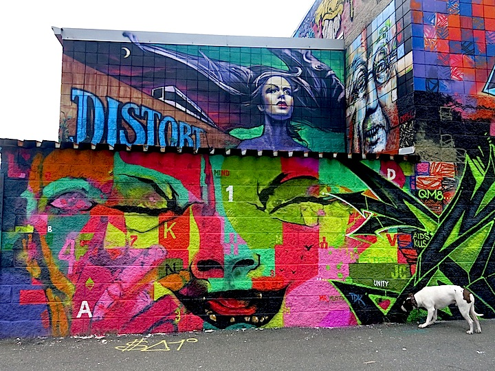 AIDS Crew Distort Mister Mustart Artists Convert Former Jersey City Shop into a Graffiti Mecca: SP.ONE, Mr. Mustart, Distort, ERA, Mr. Abillity, Chopla, Pomer, Clarence Rich, Paws 21, Optimo Primo, AIDS Crew and more