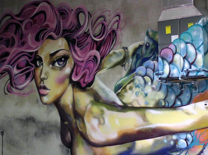Diana contreras mural detail Speaking with Miami Based Peruvian Artist Diana Contreras aka Didi