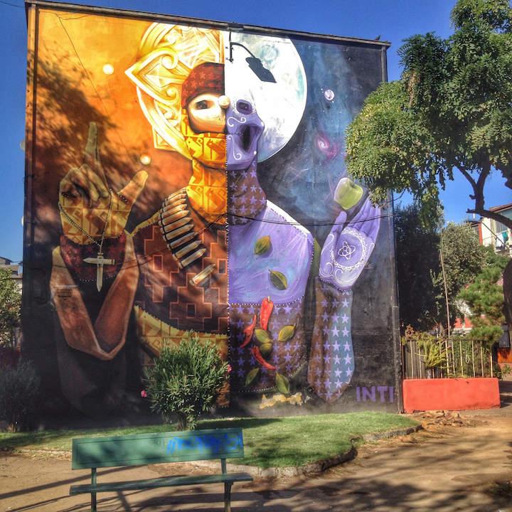 INTI santiago chile street art <em>Outdoor Gallery NYC</em> Author Yoav Litvin on the Streets of South America with: Inti, Gonzalo Sánchez <em>Painters</em>, Stinkfish &amp; the APC Crew, Entes &amp; Pésimo, Decertor, Marcelo Ment, Tarm1, Nove and Apitatan