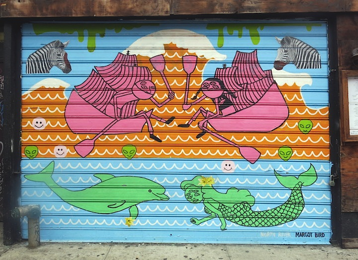 Margot bird NYC Shutters – Part IX: Claw Money, Fumero, Daze, Iena Cruz, Plasma Slug, Madsteez, Armas Carino, Margot Bird and JR