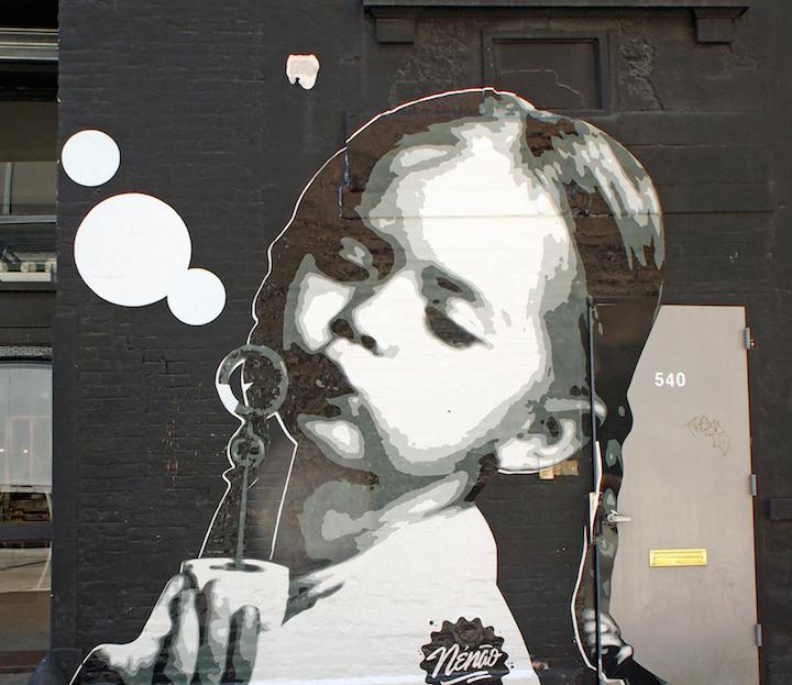 gustavo nénão street art NYC Kids on Walls — Part VII: Gustavo Nénão, Joe Iurato, Stinkfish, Jef Aerosol and Danielle Mastrion