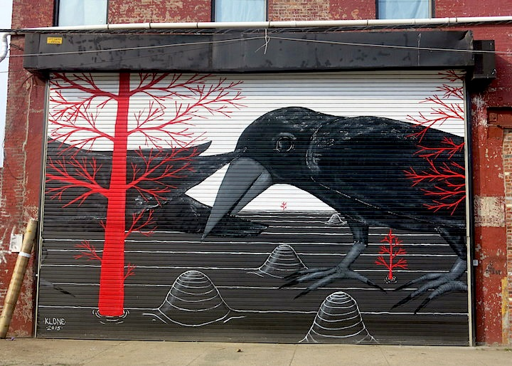 klone street art mural nyc Tel Aviv Based Artist Klone in Solo Exhibit at Garis & Hahn and on the Streets of Brooklyn and Tel Aviv