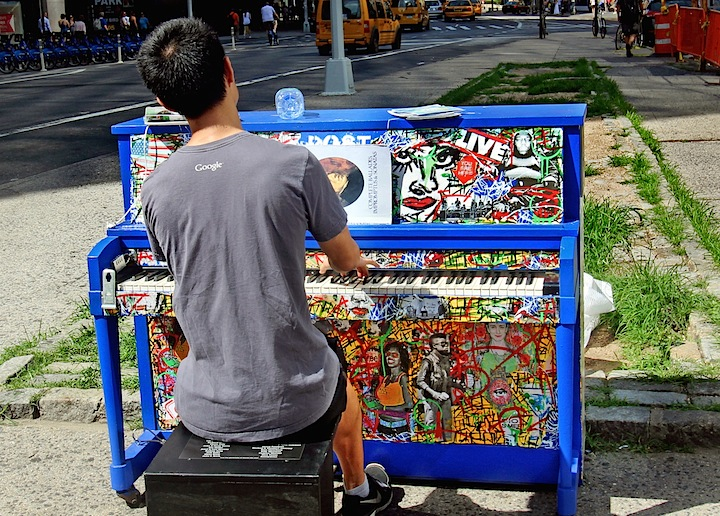 Franck de las Mercedes art on paino <em>Sing for Hope</em> Brings Artful Pianos to NYC Public Spaces: Marc Evan, Jessica Browne White, Keith Haring Foundation, Jose Aurelio Baez and Franck de las Mercedes