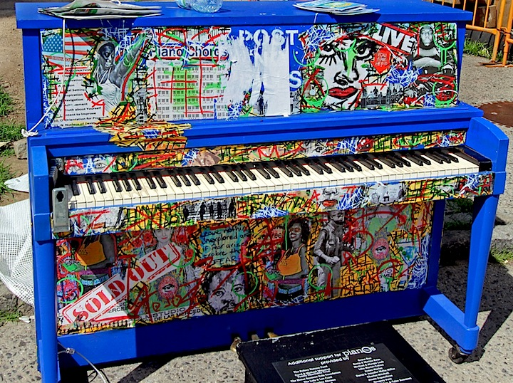 Franck de las Mercedes sing for hope <em>Sing for Hope</em> Brings Artful Pianos to NYC Public Spaces: Marc Evan, Jessica Browne White, Keith Haring Foundation, Jose Aurelio Baez and Franck de las Mercedes