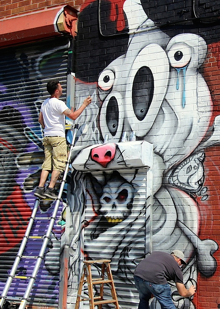 MCA street art bushwick collective nyc  The Bushwick Collective Readies for Its Annual Block Party: Jerkface, Owen Dippie, Solus, The Toasters, Werc & Gera Luz, MCA, Ghost & more