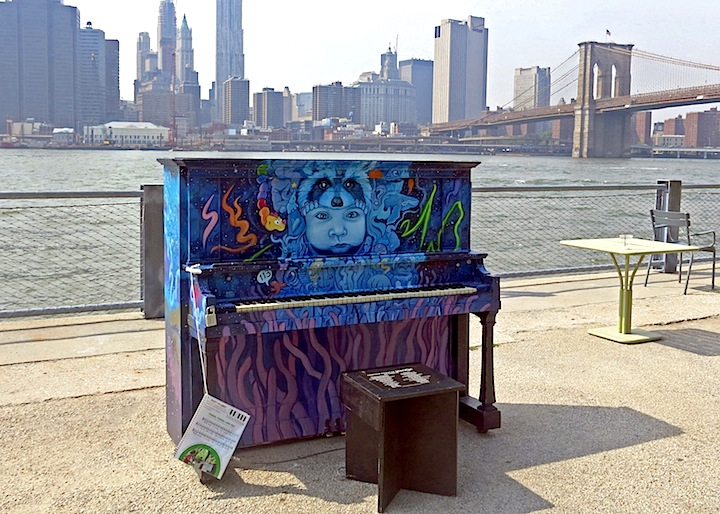 Marc evan brooklyn bridge sing for hope <em>Sing for Hope</em> Brings Artful Pianos to NYC Public Spaces: Marc Evan, Jessica Browne White, Keith Haring Foundation, Jose Aurelio Baez and Franck de las Mercedes
