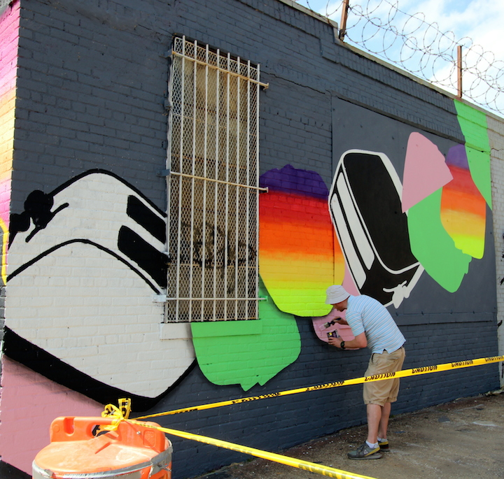 Toaster paints street art bushwick collective nyc The Bushwick Collective Readies for Its Annual Block Party: Jerkface, Owen Dippie, Solus, The Toasters, Werc & Gera Luz, MCA, Ghost & more