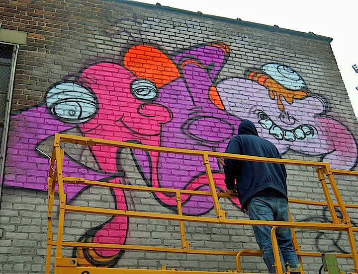ghost RIS graffiti Bushwick Collective The Bushwick Collective Readies for Its Annual Block Party: Jerkface, Owen Dippie, Solus, The Toasters, Werc & Gera Luz, MCA, Ghost & more
