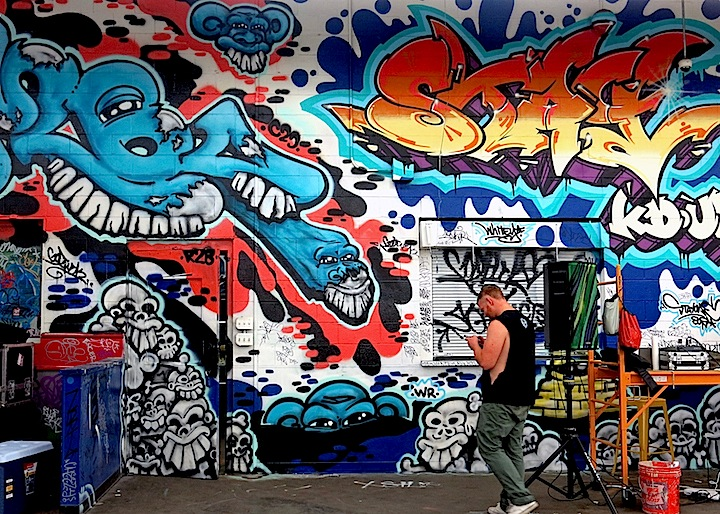 goomba stay one graffiti   Green Villains <em>Demolition Exhibition</em> Converts Former Jersey City Shop into a Graffiti Wonderland: Wane, Doves, Curve, Mr. Mustart, Evikt, Jahan, Mes, Themo, Distoart, Kingbee, Era, Goomba, Stay One &amp; more