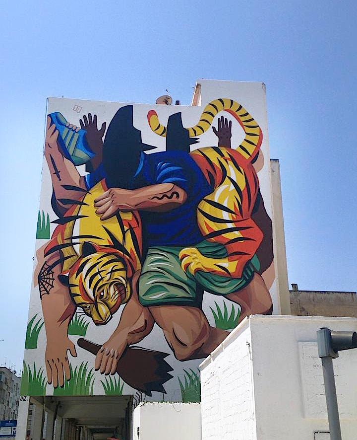 jaz street art festival mural rabat Street Art NYC at <em>JIDAR Toiles de Rue</em> in Rabat, Morocco with: Inti, Cisco, Kalamour, Jaz, Maya Hayuk, Simo Mouhim and Zepha