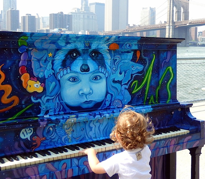 marc evan public art nyc <em>Sing for Hope</em> Brings Artful Pianos to NYC Public Spaces: Marc Evan, Jessica Browne White, Keith Haring Foundation, Jose Aurelio Baez and Franck de las Mercedes
