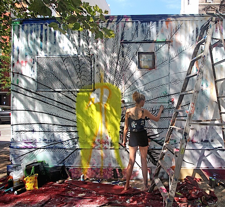Dorothy-Gale-at-work-Centrefuge-public-art-project-east-village