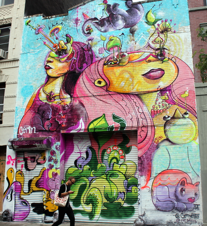 cern cernesto mural east village nyc Cernesto and El Niño de Las Pinturas Go Big in Downtown Manhattan