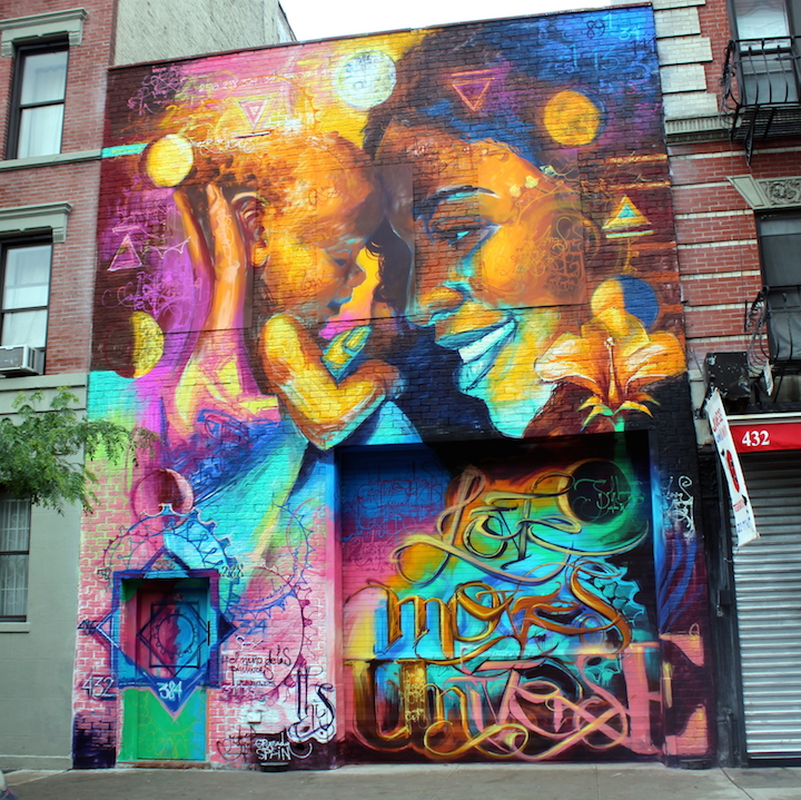 el nino completed mural east village NYC Cernesto and El Niño de Las Pinturas Go Big in Downtown Manhattan