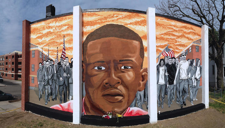 Nether Freddy Gray Mural Baltimore copy Baltimore Based Artist/Activist Nether on Breaking Down Barriers, Honoring Freddy Gray, Forging Street Art for Social Justice and more