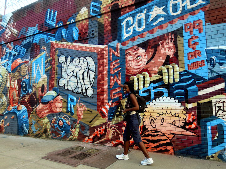 The Weird street art and graffiti mural NYC  The Blazingly Brilliant <em>Weird Crew</em> Arrives from Europe to the Streets of Bushwick and Exit Room NY