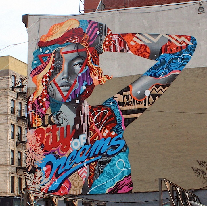 tristan eaton little italy street art nyc Girls on Walls, Part XVI: Dasic, William Power, Toofly, Jorit Agoch, QRST, Tristan Eaton, Zeso, JR and Ananda Nahu