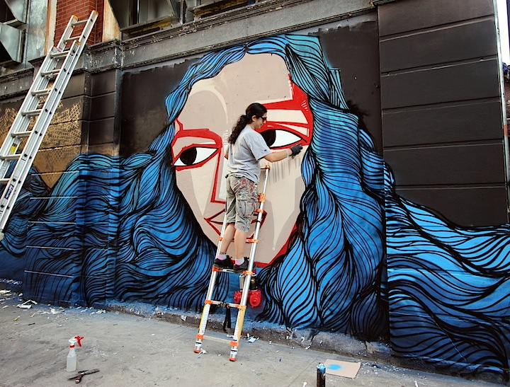 Alice Mizrachi street art east village Faces in NYC Public Spaces, Part X: Owen Dippie, Ryan Gander, Alice Mizrachi, How & Nosm with Tristan Eaton, ECB, Crisp, Chris Soria with Joel Artista and Caratoes