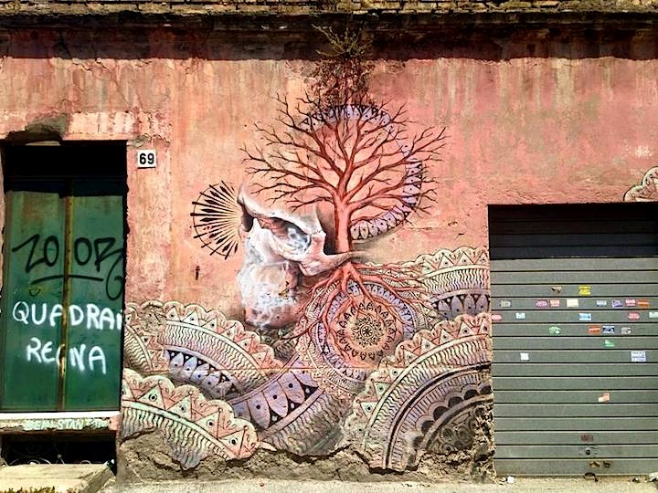 Beau Stanton street art rome Street Art NYC in Romes Quadrado Neighborhood with: Beau Stanton, Dilka Bear, Maupal, Ron English, Veks Van Hillik and Mr. Thoms