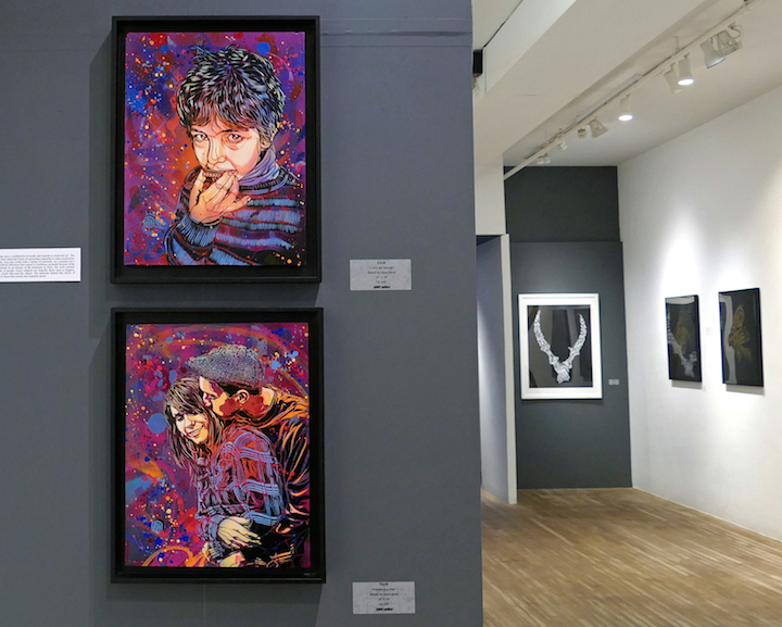C215 stencil art azart <em>More than Words</em> Continues at Azart Gallery through October 3 with: Ayad Alkadhi, Tim Okamura, Rocko, Greg Lamarche, C215 and more