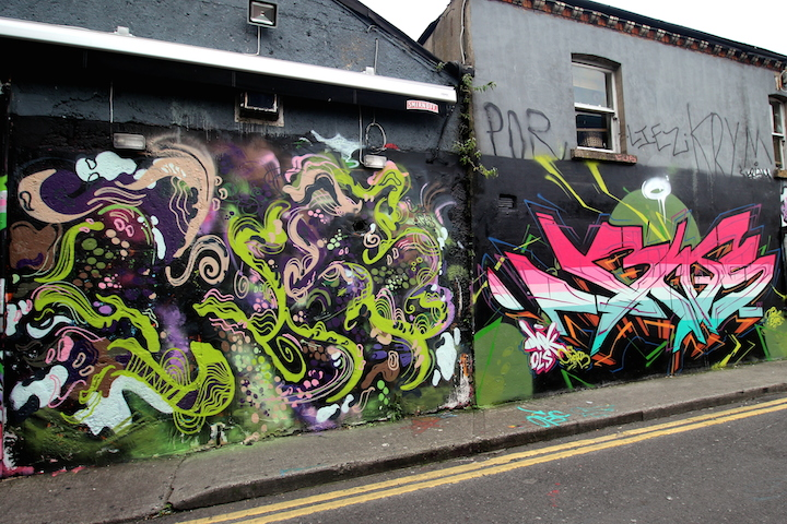Koce and vents dublin graffiti Street Art NYC in Dublin, Ireland with Fin DAC, James Earley, Fink, Dan Leo, Marcamix, Friz, Koce and Vents
