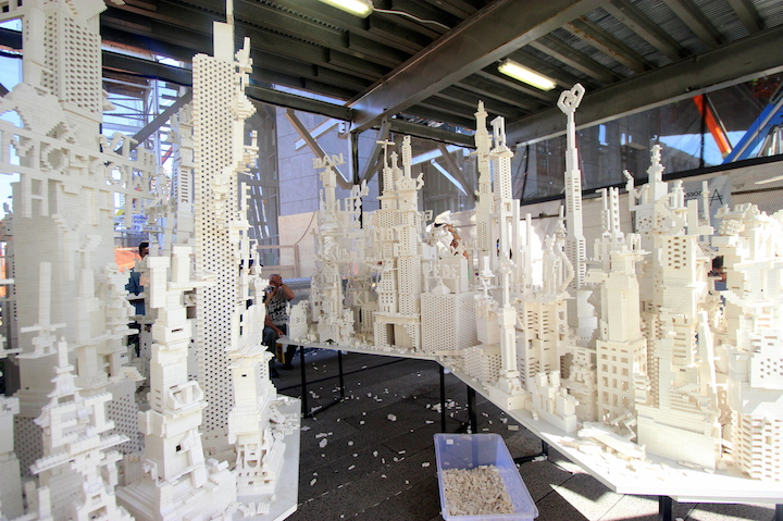 Olafur Eliasson lego wide view Chelsea NYC Olafur Eliasson: <em>The collectivity project</em>    with Two Tons of White LEGO® Bricks    Continues Through Wednesday on the High Line