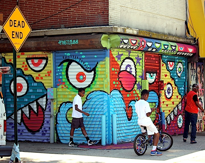 Phetus street art brownville nyc <em>Writing on the Walls</em> in Brownsville, Brooklyn, Part II: Joel Artista, Welin, Ben Angotti, Zeso, Teo Doro and Phetus