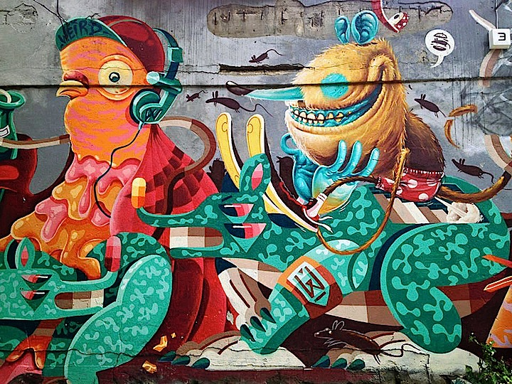 The Weird street art Berlin Street Art NYC at Berlins Young African Art Market: The Weird Crew, Sokar Uno, Juliah, Gamze Yalcin, Manoel Quitério, Paola Delfin & more