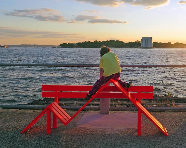 jeppe-Hein-sculpture-at-dusk-Brooklyn-Bridge-Park-NYC