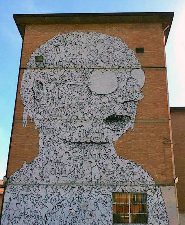 blu street art bologna italy In Bologna, Italy with: Blu, Rusty, L.E.T, Eron, Peeta, NemO and more